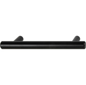 Cornerstone Series Cosmopolitan Collection (5-3/8'' W) Contemporary Bar Handle in Matt Black, 136mm W, Center to Center: 96mm  (3-3/4'')