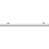 Cornerstone Series Cosmopolitan Collection (8-1/2'' W) Contemporary Bar Pull in Polished Chrome, 220mm W x 32mm D x 12mm H, Center to Center: 160mm (6-5/16'')