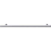 Cornerstone Series Cosmopolitan Collection (9-1/2'' W) Contemporary Bar Pull in Matt Chrome, 242mm W x 32mm D x 12mm H, Center to Center: 192mm  (7-9/16'')