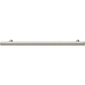 Cornerstone Series Cosmopolitan Collection (9-1/2'' W) Contemporary Bar Pull in Brushed Nickel, 242mm W x 32mm D x 12mm H, Center to Center: 192mm  (7-9/16'')