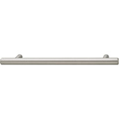 Cornerstone Series Cosmopolitan Collection (7'' W) Contemporary Bar Pull in Brushed Nickel, 178mm W x 32mm D x 12mm H, Center to Center: 128mm  (5-3/64'')