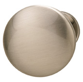 Cornerstone Series Chanterelle Collection (1-1/4'' Diameter), Transitional Mushroom Knob in Brushed Nickel, 30mm Diameter x 28mm D x 17mm Base Diameter