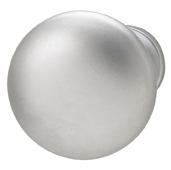 Cornerstone Series Chanterelle Collection (1-1/4'' Diameter), Transitional Mushroom Knob in Matt Chrome, 30mm Diameter x 28mm D x 17mm Base Diameter