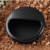 (2-1/5'') Diameter Plastic Mortise Recessed Round Pull Handle in Black, 55mm Diameter x 10mm D x 50mm Base Diameter