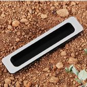 (1'' W) Plastic Mortise Recessed Handle in Matt Black Silver, 26mm W x 9mm D x 116mm H