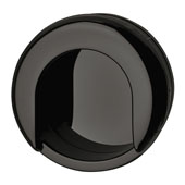 Hewi Collection (1-11/16''W) Recess Pull in Jet Black, 42mm W x 12mm D x 35mm H