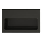 Hewi Collection Recessed Flush Polyamide Handle in Jet Black, 100mm W x 15mm D x 60mm H