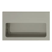 Hewi Collection Recessed Flush Polyamide Handle in Dark Gray, 100mm W x 15mm D x 60mm H