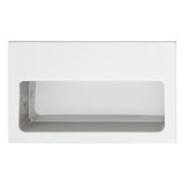 Hewi Collection Recessed Flush Polyamide Handle in Glossy White, 100mm W x 15mm D x 60mm H