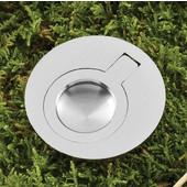 (2'') Diameter Mortise Recessed Ring Pull Handle in Brushed Nickel, 50mm Diameter x 12mm D