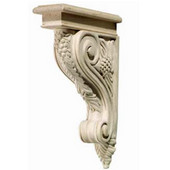 Häfele Bordeaux Collection Corbel, Grape, 2'' W x 9-3/16'' D x 12-3/4'' H, Red Oak