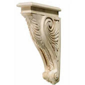 Häfele Acanthus Collection Corbel, 2'' W x 9-3/16'' D x 13'' H, Cherry