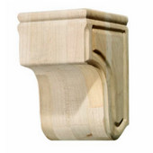 Häfele Wood Corbel Collection, Plain, 5-11/16'' W x 5-15/16'' D x 8-15/16'' H, Cherry
