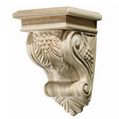 Häfele Bordeaux Collection Corbel, Grape, 5-3/4'' W x 6-1/16'' D x 8-7/8'' H, Red Oak