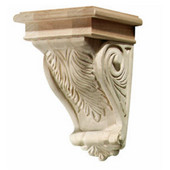 Acanthus Collection Corbel, Red Oak, 5-3/4'' W x 6-1/16'' D x 9'' H