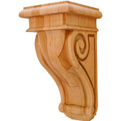 scroll Collection Corbel, Rosette, Cherry, 4-1/4''W x 5''D x 9''H