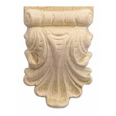 H�fele Wood Ornament, Carved, 2-15/16'' W x 1-1/16'' D x 4-11/32'' H, Maple