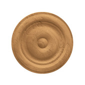 H�fele Wood Ornament, Round, Carved Rosette, Plain, 2-1/8'' Dia. x 3/8'' D, Cherry