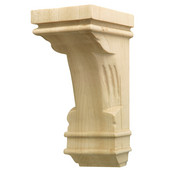 H�fele Regency Collection Hand Carved Corbel Traditional 2-7/8'' W x 3'' D x 6'' H, Cherry