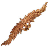 Häfele Chateau Collection Onlay, Hand Carved, Leaves Motif, 20'' W x 5/8'' D x 4-1/2'' H, Cherry