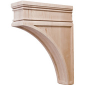 Häfele Arcadian Collection Hand Carved Corbel, 2-7/8'' W x 9'' D x 12'' H, Maple