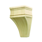 Arcadian Collection Hand Carved Corbel, Oak, 5-7/8'' W x 4'' D x 9'' H