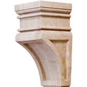 H�fele Arcadian Collection Hand Carved Corbel, 2-7/8'' W x 3'' D x 6'' H, Maple