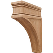 Häfele Arcadian Collection Hand Carved Corbel, 2-7/8'' W x 9'' D x 12'' H, Oak