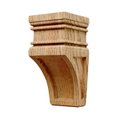 Häfele Arcadian Collection Hand Carved Corbel, 2-7/8'' W x 3'' D x 6'' H, Oak