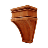 Arcadian Collection Hand Carved Corbel, Cherry, 5-7/8'' W x 4'' D x 9'' H