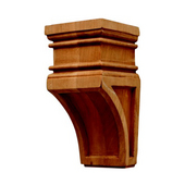 H�fele Arcadian Collection Hand Carved Corbel, 2-7/8'' W x 3'' D x 6'' H, Cherry