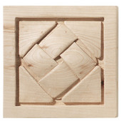 Häfele Cottage Collection Onlay, Hand Carved, Basket Weave, 2-7/8'' W x 3/4'' D x 2-7/8'' H, Maple