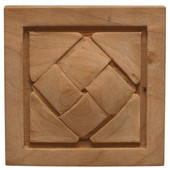 Häfele Cottage Collection Onlay, Hand Carved, Basket Weave, 2-7/8'' W x 3/4'' D x 2-7/8'' H, Cherry