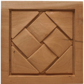 Häfele Cottage Collection Onlay, Hand Carved, Basket Weave, 5-7/8'' W x 3/4'' D x 5-7/8'' H, Cherry