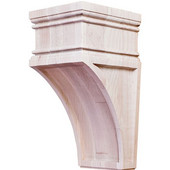 Arcadian Collection Hand Carved Corbel, Maple, 4-1/4''W x 5''D x 9''H