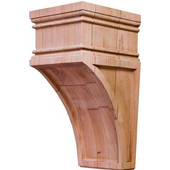 Arcadian Collection Hand Carved Corbel, Cherry, 4-1/4''W x 5''D x 9''H