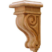 Scroll Collection Corbel, Rosette, Cherry, 2-7/8''W x 3''D x 6''H