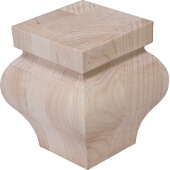 Bunn Foot, Hannover, Maple, 3-5/8''W x 3-5/8''D x 4''H