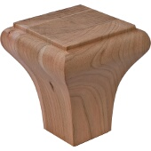 Bunn Foot, La Fayette Collection, Cherry, 3-9/16''W x 3-9/16''D x 4''H