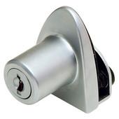 Single Glass Door Lock Cabinet Hinge, Alike #D20 in Aluminum, 40mm (1-9/16'') H