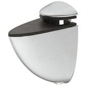 Clamping Glass Shelf Bracket for 4 - 18mm Shelf Thickness, Aluminum, Set of Two