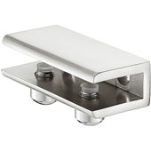 Glass Shelf Support with Set Screw for 8 - 10mm Glass Thickness, Stainless Steel, Set of Two