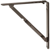 Steel Folding Bracket with Locking Device, Brown, (12-5/8''W x 12-1/5''H)