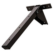 Tikla Folding Table Bracket, 140mm (5-33/64'') W x 360mm (14-11/64'') D x 120mm (4-23/32'') H, Brown Lacquer