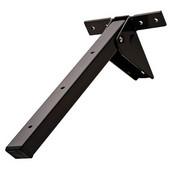 Tikla Folding Table Bracket, 140mm (5-33/64'') W x 360mm (14-11/64'') D x 120mm (4-23/32'') H, Brown Lacquer