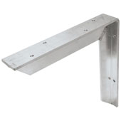 Counter Support Bracket, Aluminum, Unfinished, 12''D x 12''H