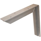 Counter Support Bracket, Aluminum, Powder Chrome, 18''D x 18''H