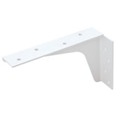 Steel Workstation Bracket, 5''W x 8''H, White