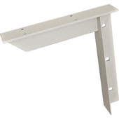 Concealed Workstation Bracket, Steel, White, 9''D x 12''H
