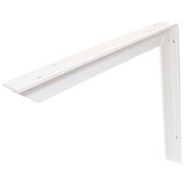 Counter Support Bracket, Aluminum, Powder White, 18''D x 24''H